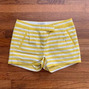 J. Crew EUC high waisted striped 3 inch shorts